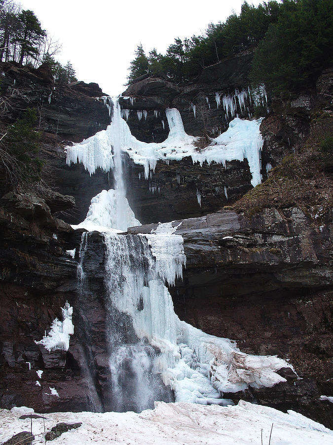 Waterfalls Photograph - March Thaw Darkens The Kaaterskill Falls 2009 by Terrance DePietro