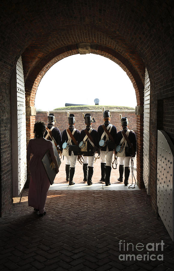 Baltimore Photograph - Marching Off On Detail At Fort Mchenry by William Kuta