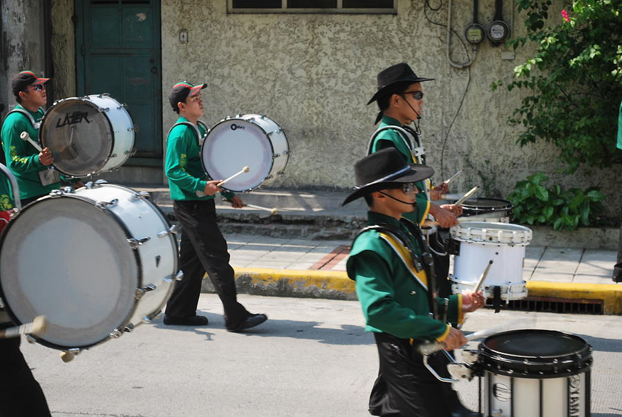 Marching Band Photograph - Marching With The Band by Ariel James Matela