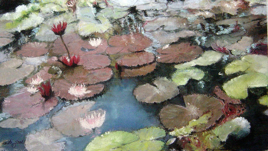 Pastel Pastel - Marcias Lillies by Anita Stoll