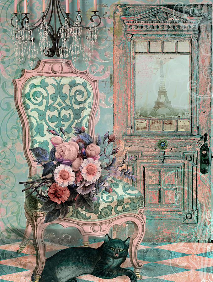 Paris Painting - Marcie In Paris by Mindy Sommers