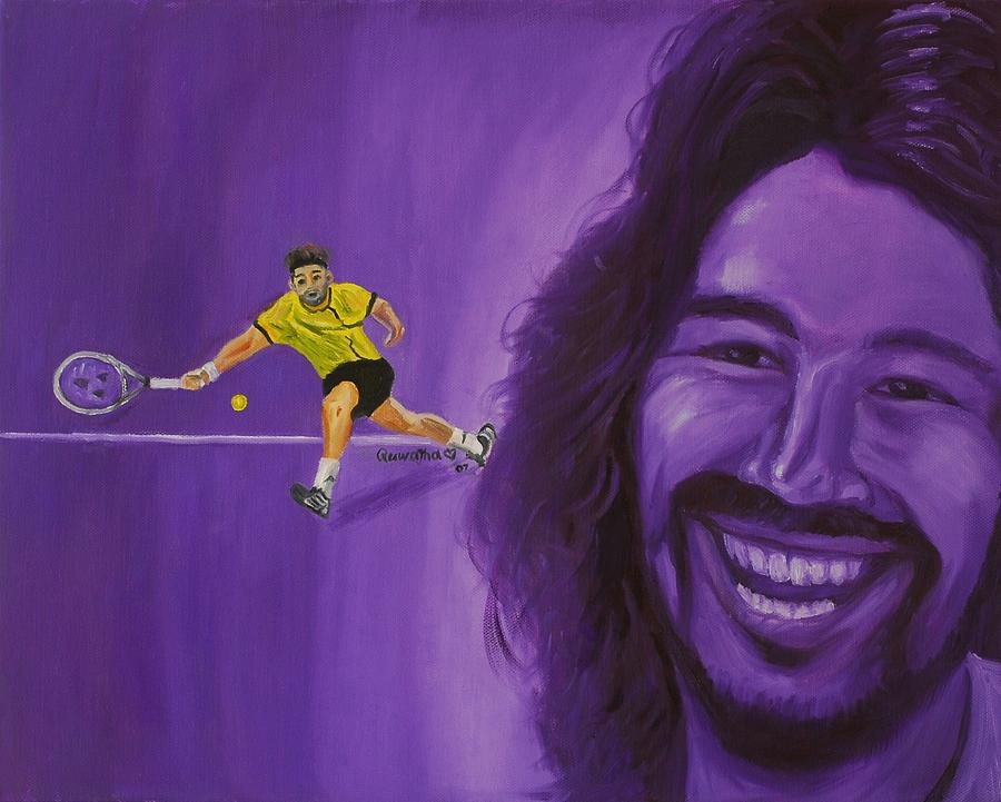 Marcos Painting - Marcos Baghdatis by Quwatha Valentine