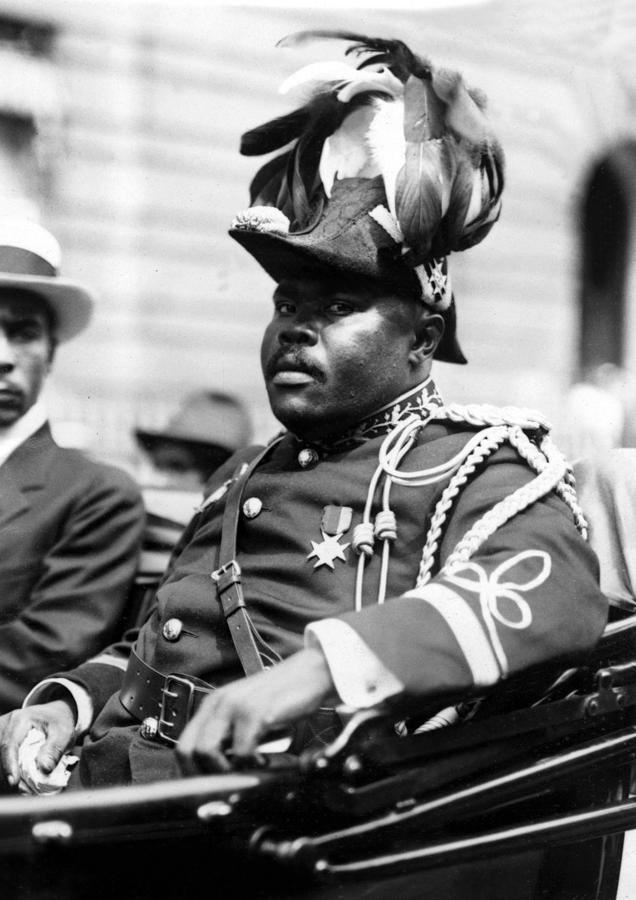 Garvey Photograph - Marcus Garvey, The Negro Moses, Rides by Everett
