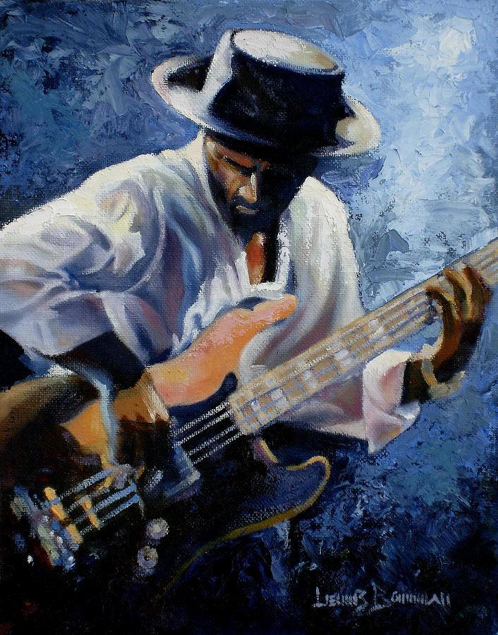 Jazz Painting - Marcus  by Lewis Bowman