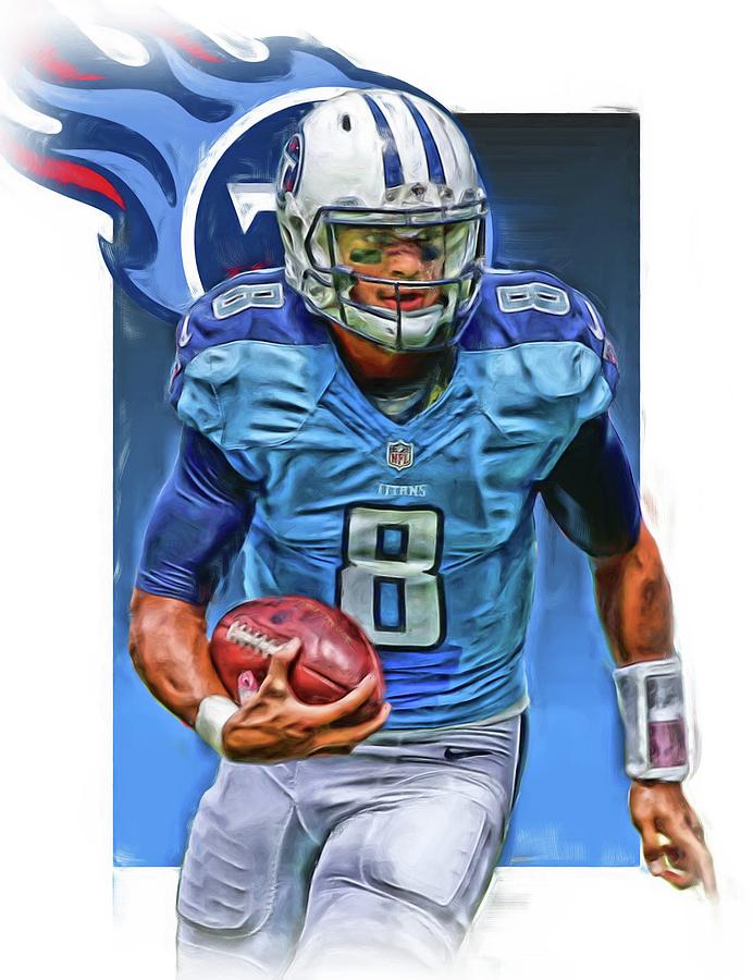separation shoes f1fc5 26c30 Marcus Mariota Tennessee Titans Oil Art