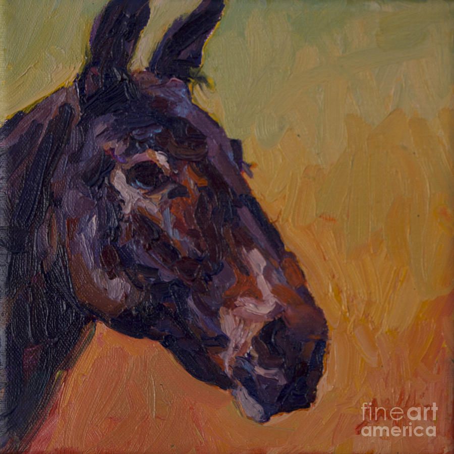 Mule Painting - Marcus by Patricia A Griffin