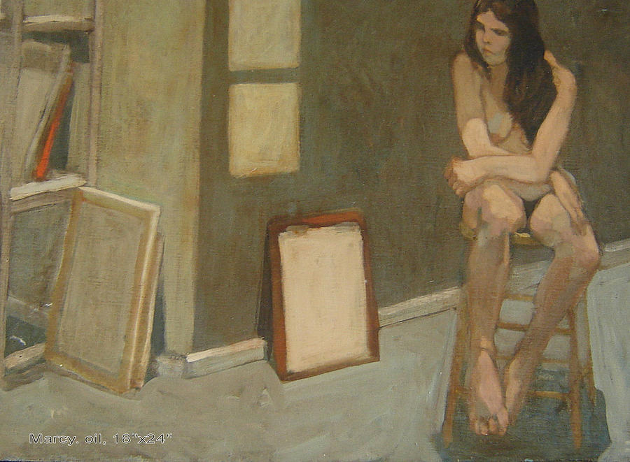 Figure Painting - Marcy by Jim Innes