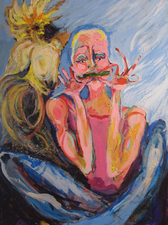 Girl Painting - Mardi Girl by Amy Casteel