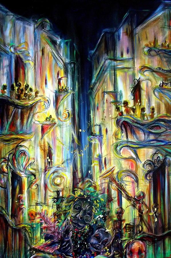 Mardi Gras Painting - Mardi Gras by Heather Calderon