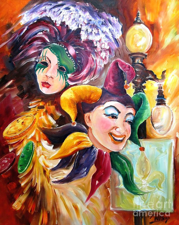 New Orleans Painting - Mardi Gras Images by Diane Millsap