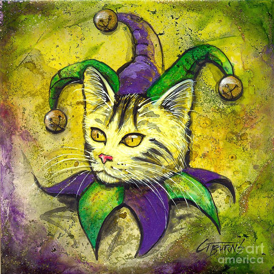 Mardi Gras Jester Kitty by GG Burns