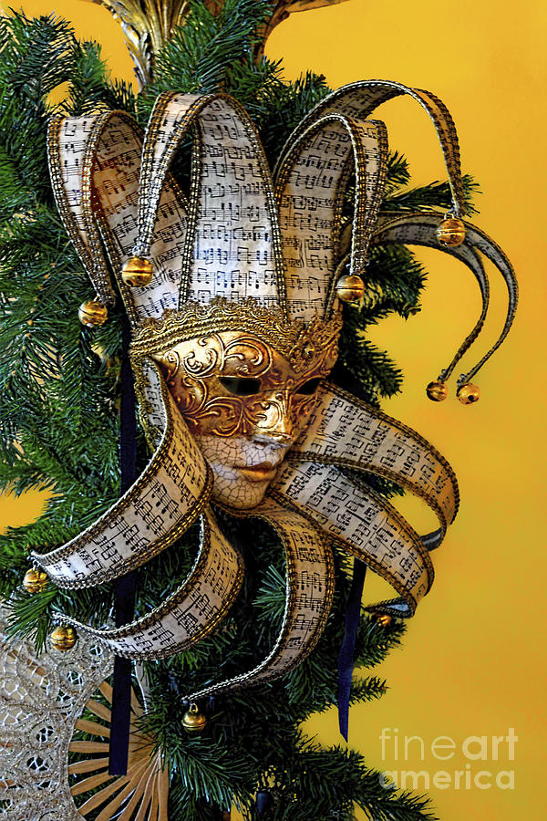 Travel Photography Photograph - Mardi Gras Mask In Gold by Norman Gabitzsch