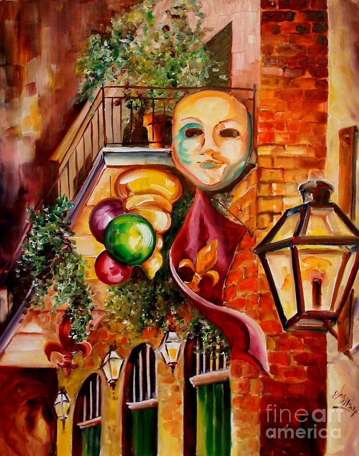 New Orleans Painting - Mardi Gras Night by Diane Millsap