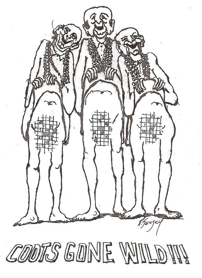 Mardi Gras Drawing by Roger Swezey
