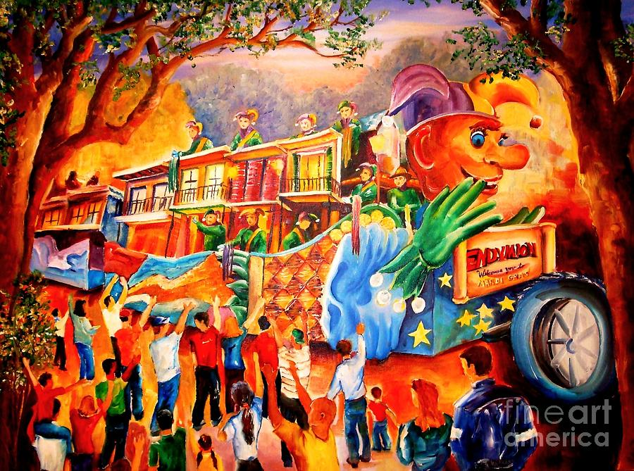 New Orleans Painting - Mardi Gras With Endymion by Diane Millsap