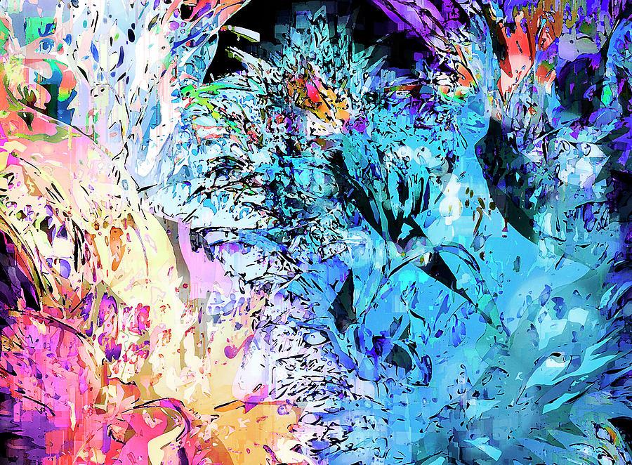 Abstract Digital Art - mardiGras by Harry Hunsberger