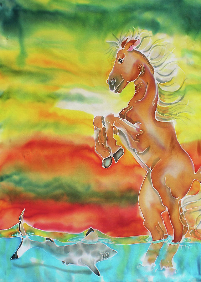 Horse Painting - Mare Scare by Tiff