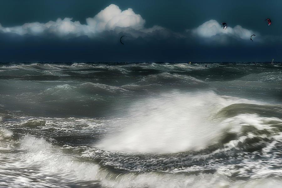 Liguria Photograph - MAREGGIATA a PONENTE - EASTERN SEASTORM by Enrico Pelos