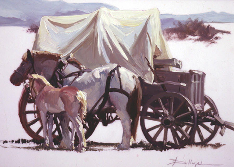 Horses Painting - Mares Pride by Betty Jean Billups