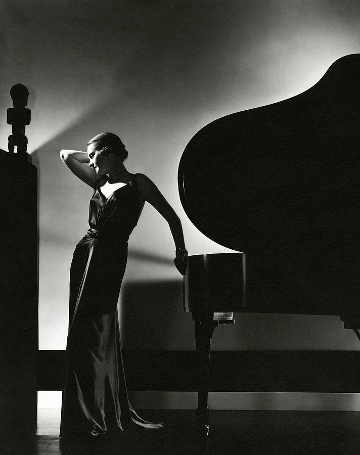 Margaret Horan Posing Beside A Piano Photograph by Edward Steichen