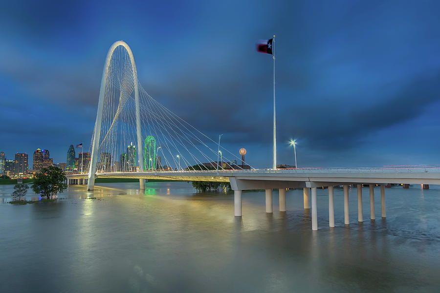 Margaret Hunt Hill Bridge Dallas Texas by Robert Bellomy