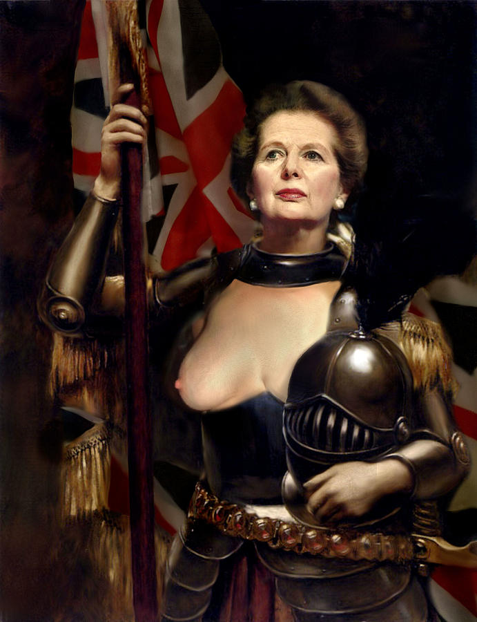 Margaret Thatcher Painting - Margaret Thatcher Nude by Karine Percheron-Daniels