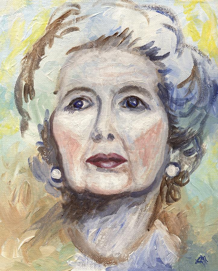 Portrait Painting - Margaret Thatcher One by Linda Mears