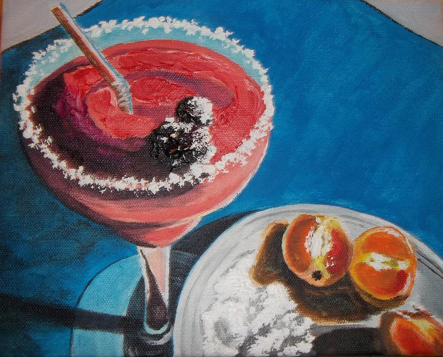 Alcohol Drink Painting - Margarita Anyone by Terry Godinez