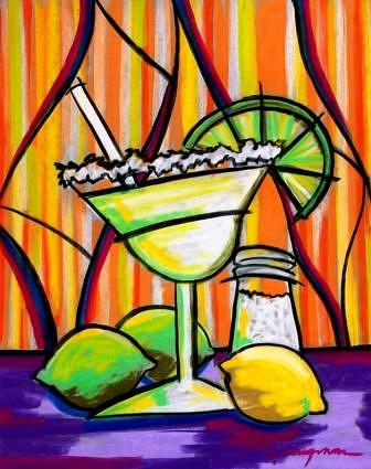 Coctails Mixed Media - Margarita by Daniel Henigman