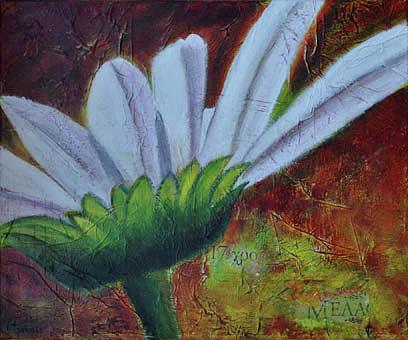 Fleurs Painting - Margarita by Lesuisse Viviane