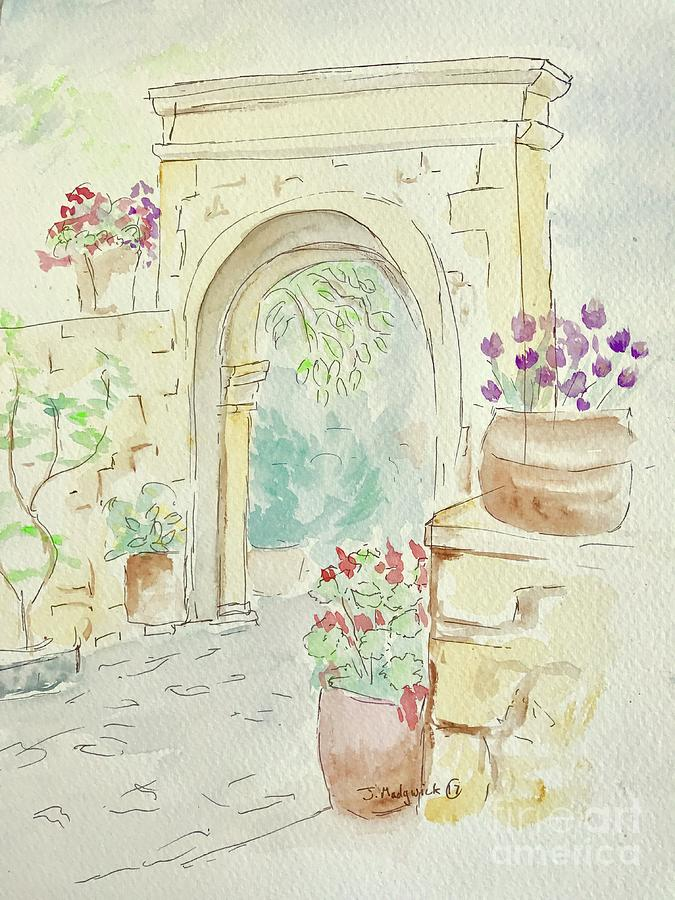 Margarites Painting - Margarites, Crete. by Jill Madgwick