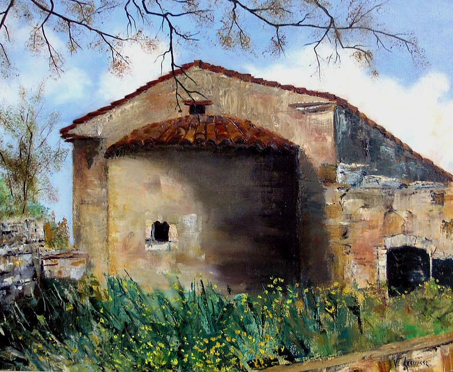 Landscape Painting - Margharites - Crete - Greece by Lesuisse Viviane