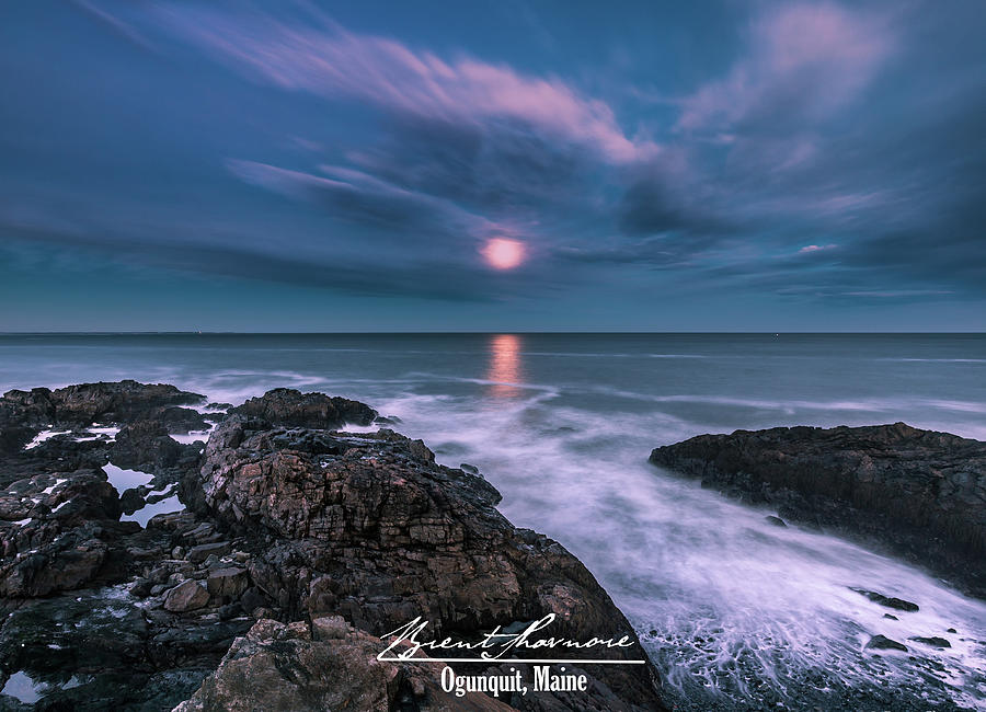 Mystic Maine Winter Moonrise Photograph by Brent Shavnore