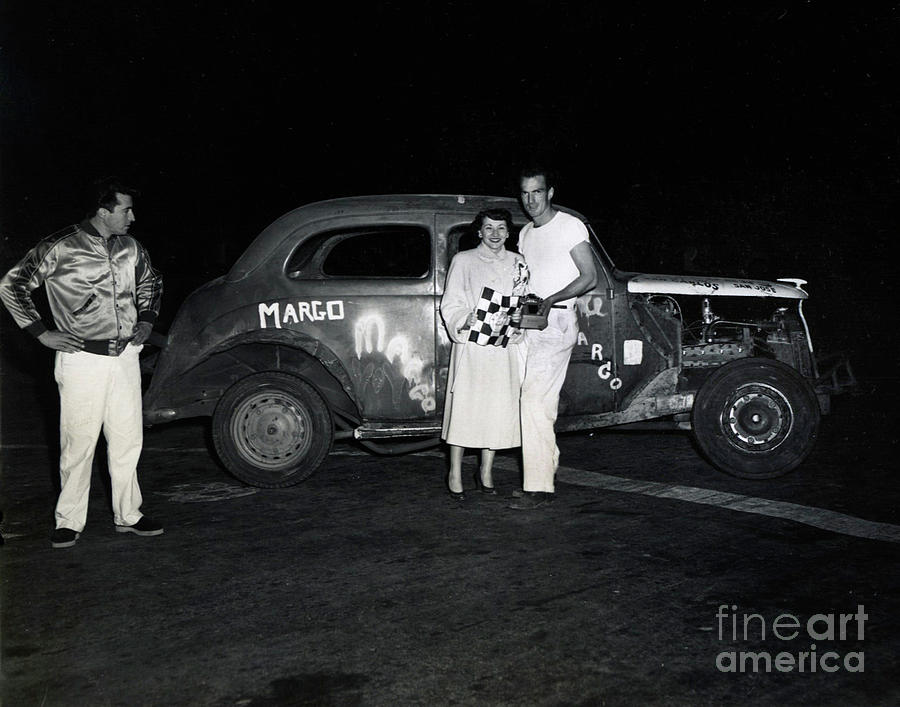 Salinas Photograph - Margo Race Car, Salinas Speedway Oct. 25, 1952 by California Views Archives Mr Pat Hathaway Archives
