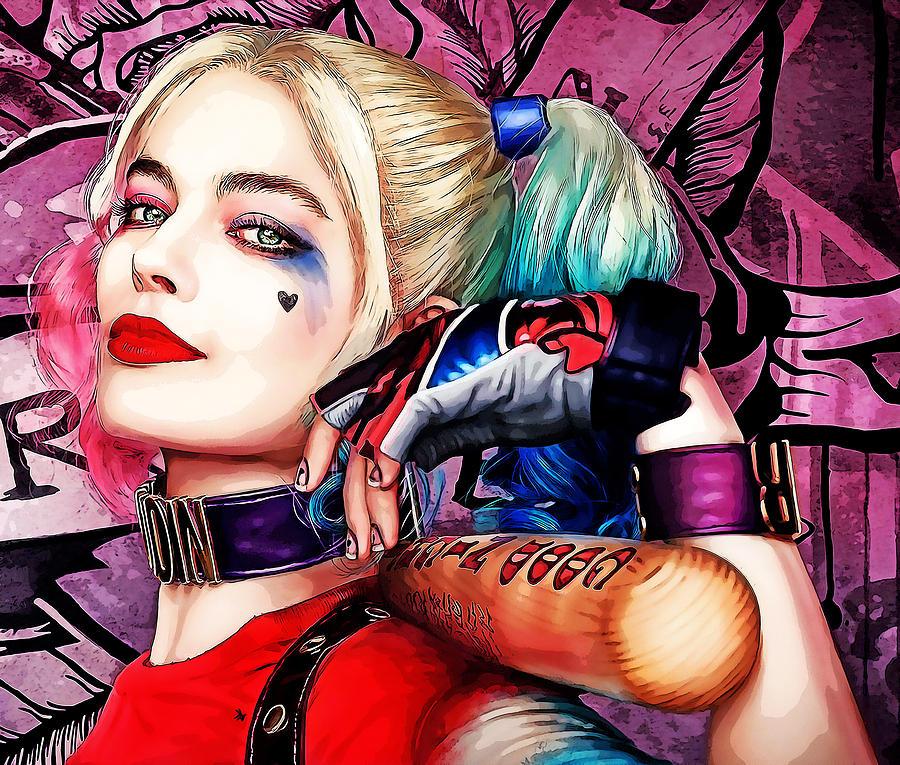 Margot Robbie Harley Quinn Mixed Media By Love Art