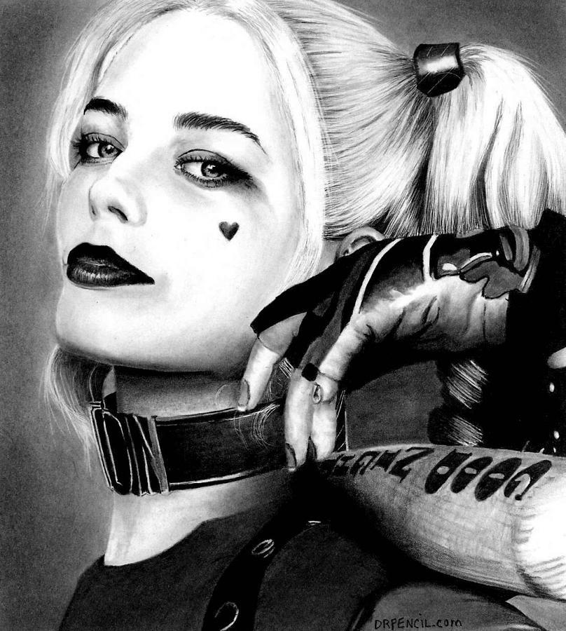 Margot Robbie Drawing - Margot Robbie  by Rick Fortson