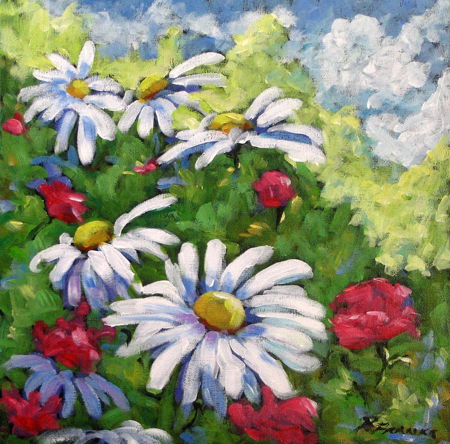 Marguerite Painting - Marguerites 002 by Richard T Pranke