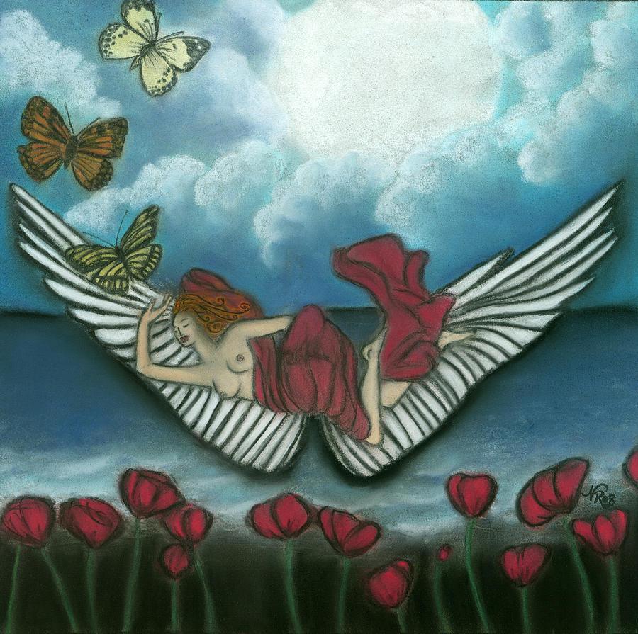 Surreal Painting - Mari Goddess Of Dreams by Natalie Roberts
