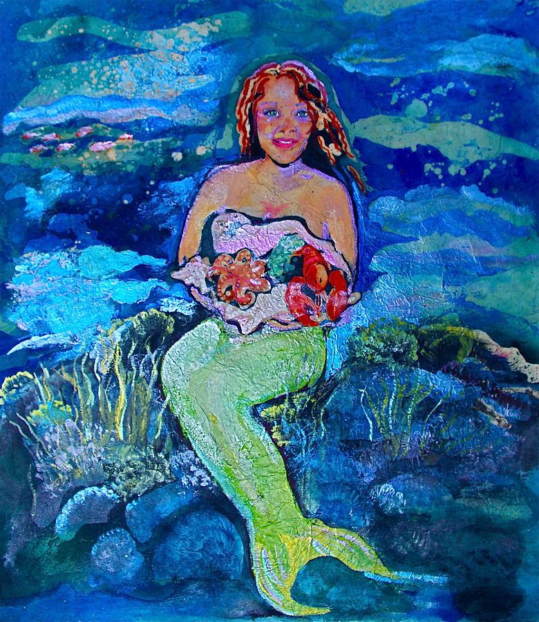Mermaid Painting - Maria La Mer by Julie Komenda