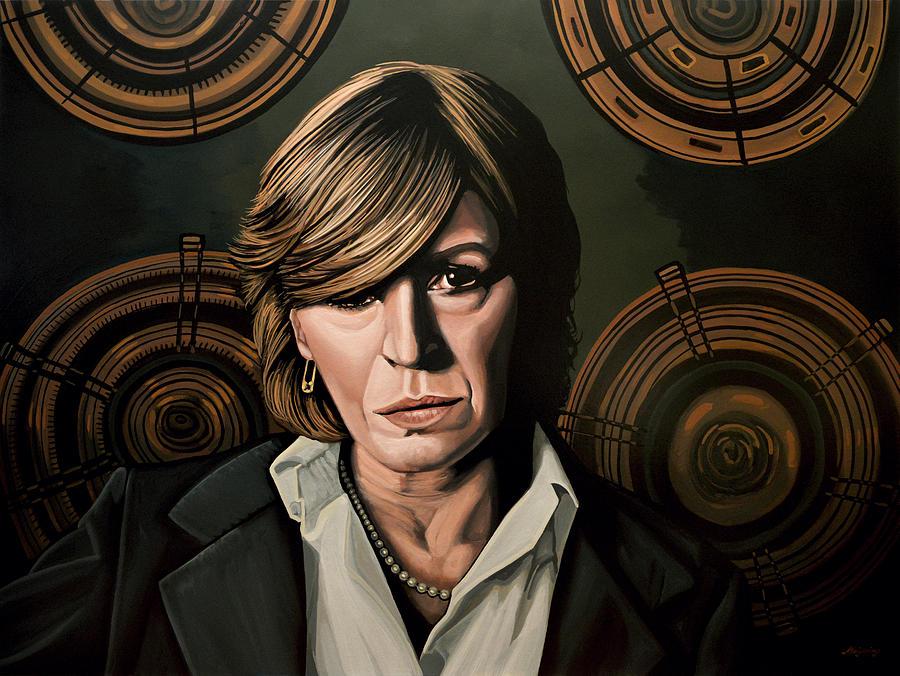 Marianne Faithfull Painting - Marianne Faithfull Painting by Paul Meijering