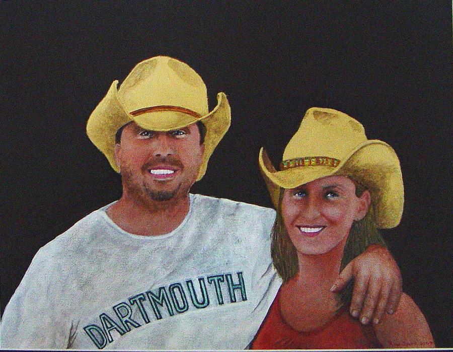 Cowboy Painting - Marie And Jay by Ron Sylvia