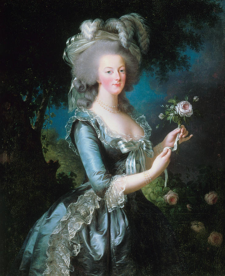 French Artist Painting - Marie-antoinette With The Rose by Louise Elisabeth Vigee Le Brun