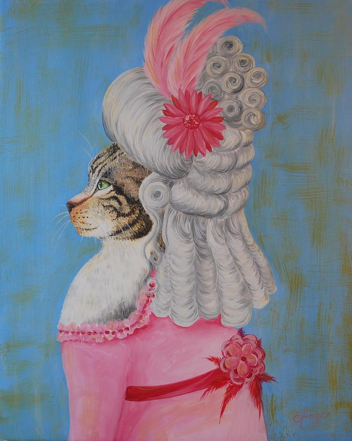 Humor Painting - Marie Catoinette by Emily Page