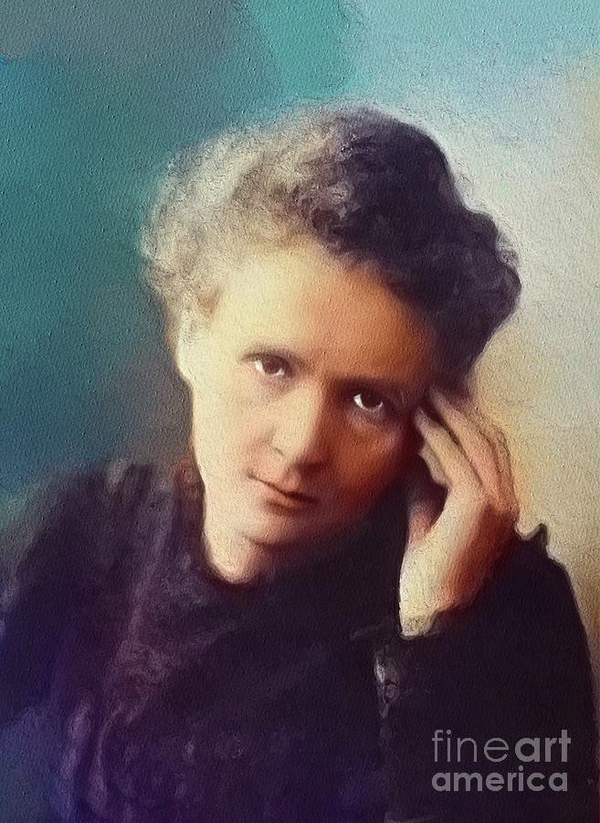 Marie Painting - Marie Curie, Famous Scientist by Esoterica Art Agency