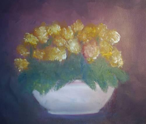 Marigolds Painting - Marigolds by Sheila Mashaw