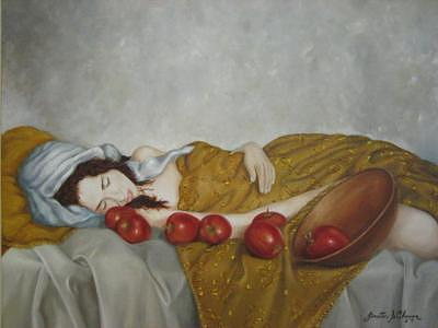 Boca Raton Art Gallery Painting - Marilia Fell Asleep by Eleven-Eleven Art Gallery
