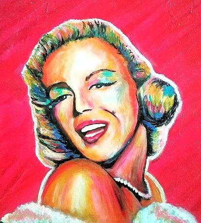 Marilyn Monroe Painting - Marilyn by Amy Lindemann