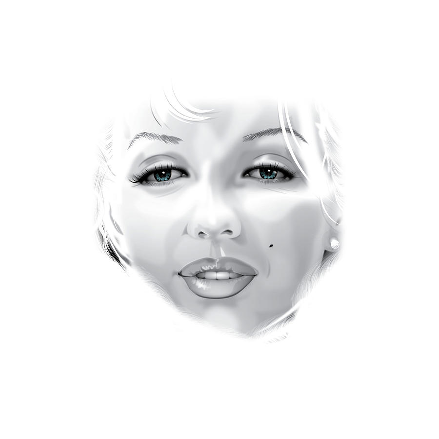 Marilyn Digital Art by Brian Gibbs