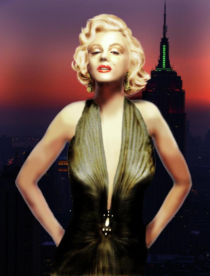 Marilyn Monroe Portrait Digital Art - Marilyn Forever by Virginia Palomeque