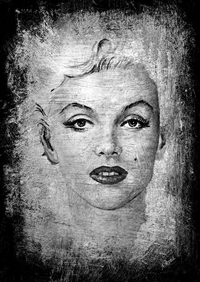 Marilyn Graphite Edit Painting